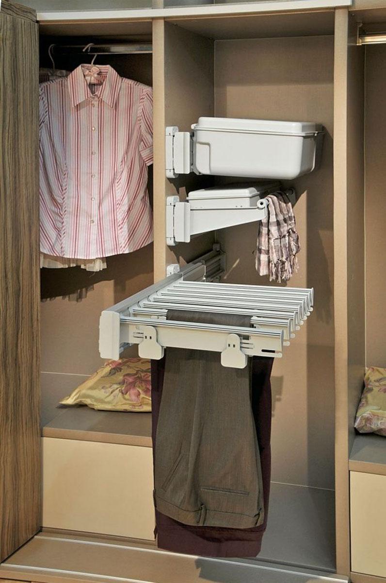 Широкие зажимы для брюк в гардеробной